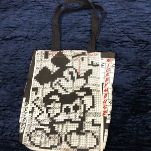 Mickey Mouse crossword puzzle tote, like new!